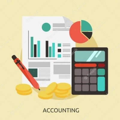 Accounting background design Free Vector